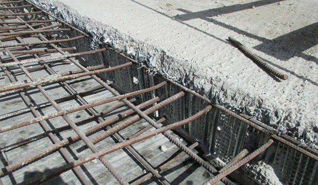 Металлическая сетка в качестве армирующего элемента при обустройстве холодного шва