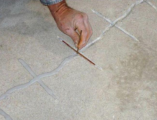 Выполнение армирования трещины