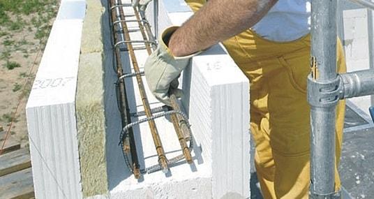 Армирование перемычки в газобетоне