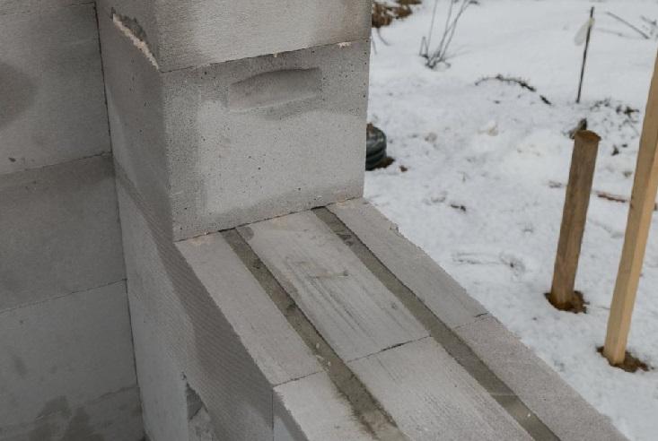 Как сделать фронтон из газобетона