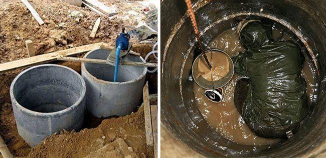 Очистка бетонного септика