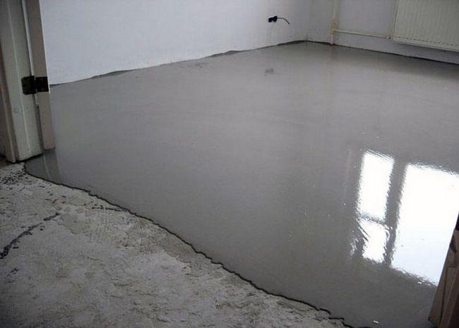 Базовый наливной цементный пол