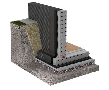 Вариант (схема) гидроизоляции фундамента