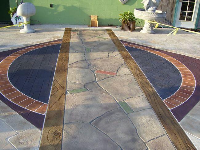 Дорожка из декоративного бетона