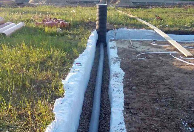 Дренажная система грунтовых вод