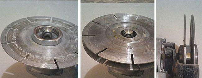 Для установки второго диска необходимо подобрать шайбу нужного размера