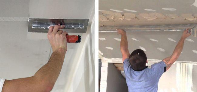 Для потолка обычно используются акриловые шпатлевки