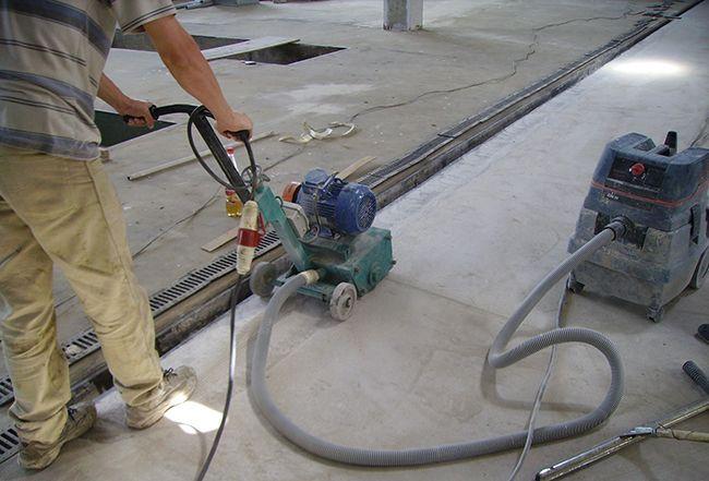 Обработка бетонной поверхности