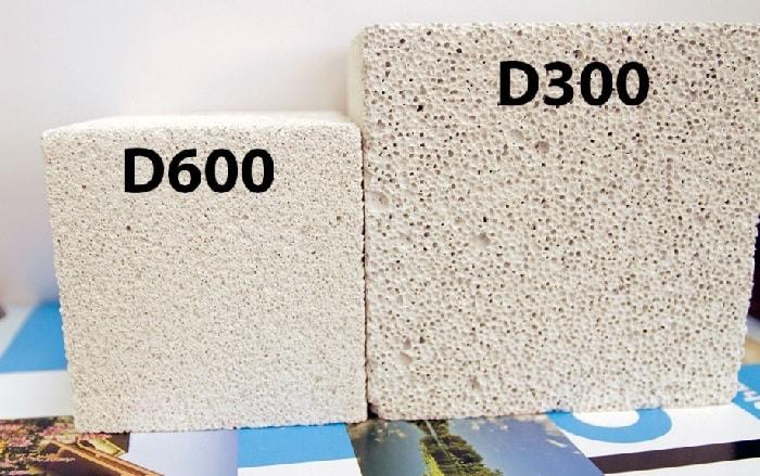 Плотность газобетона D300 D600