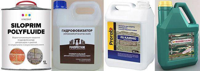 Составляющей гидрофобизатора является либо вода, либо растворитель