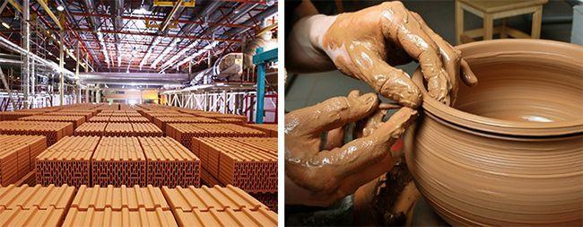 Применение глины в производстве кирпича