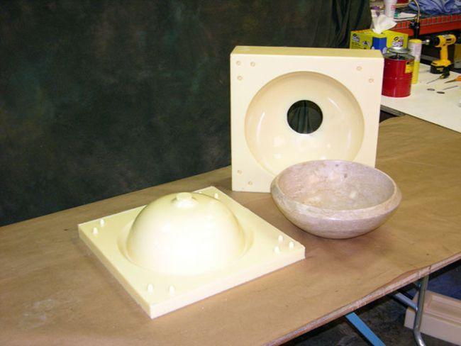 Чаша из бетонополимера