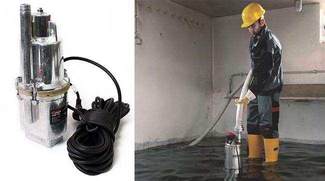 Использования насоса для откачки грунтовых вод