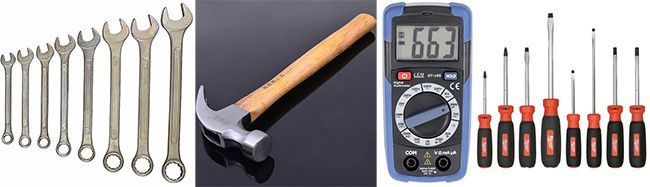 Ремонт бетономешалки своими руками можно произвести, используя небольшой набор инструментов