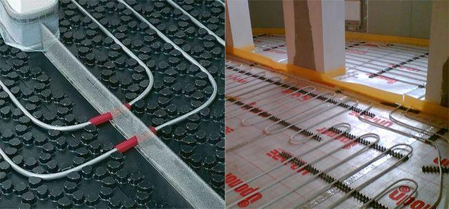 Т-образные ленты используются для того, чтобы разделить стяжку на сектора