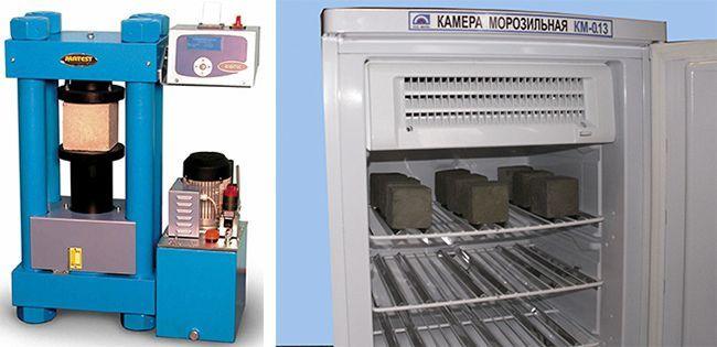 Тест на прочность и морозостойкость обязателен для гидробетона