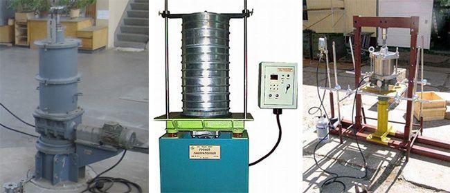 Определение коэффициента уплотнения щебня при трамбовании в лабораторных условиях