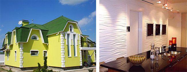 Варианты фасадной и внутренней отделки