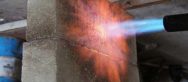 Нагревание бетонного блока