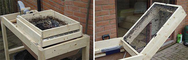 Конструкция вибросита представляет собой два ящика
