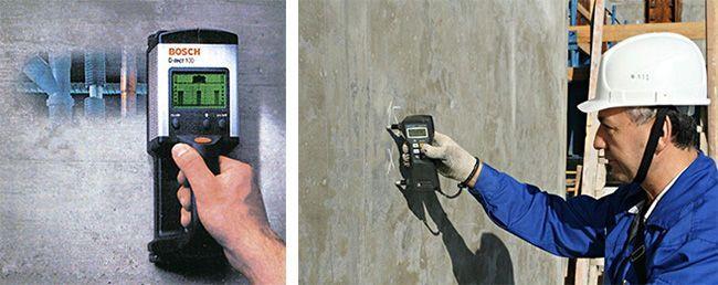Детектор поиска арматуры позволяет безопасно использовать твердосплавные коронки