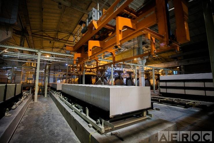 Газоблоки на заводе Aeroc