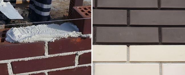 Раствор для кирпичной кладки может быть цветным или белым