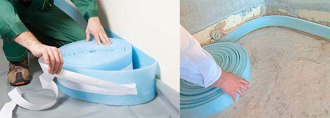 С помощью ленты создается эффективный компенсационный шов