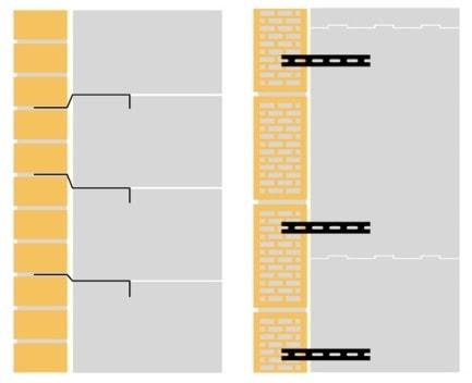 металлические связи между газобетоном и облицовочным кирпичом