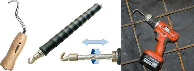 Разнообразные крючки для выполнения вязки