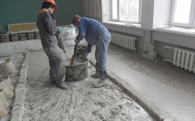 Формируем длинную бетонную дорожку, которая и будет выполнять функцию маяка