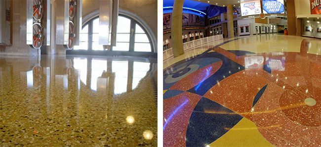 Технология обустройства многоцветного мозаичного пола отличается от технологии одноцветного покрытия