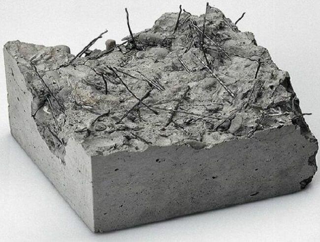 Как выглядит фибра внутри бетона