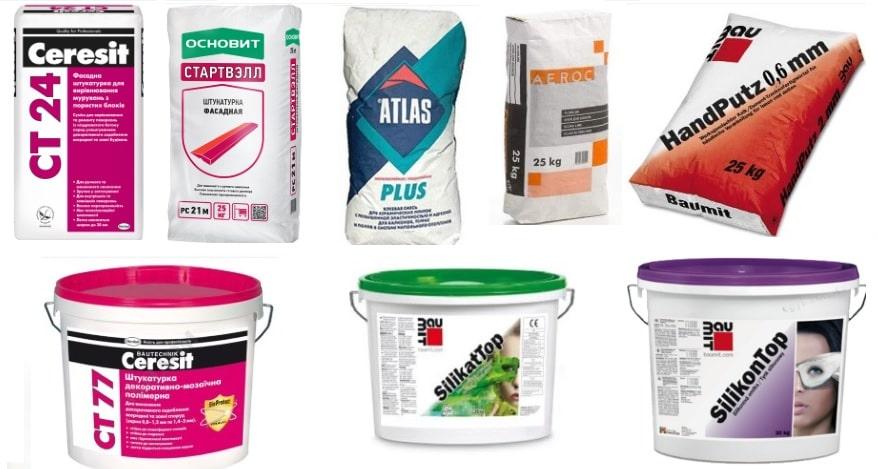 Рекомендуемые штукатурные составы для газобетона