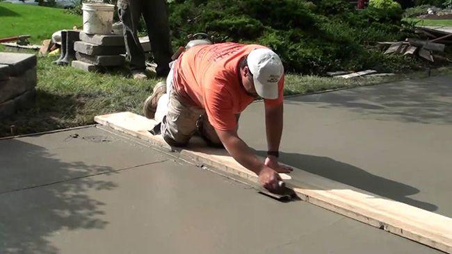 Покрытие из бетона можно сделать своими силами