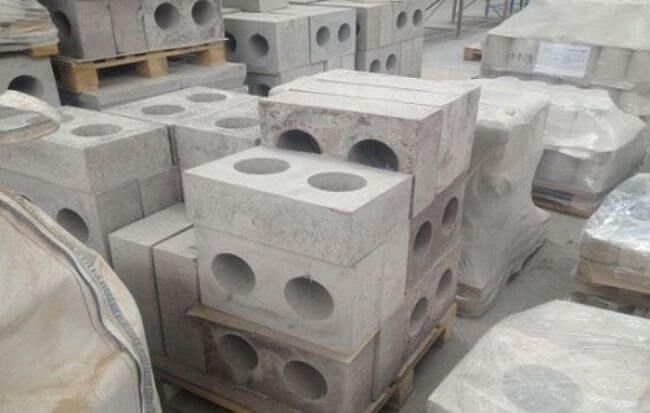 Огнеупорные бетонные блоки