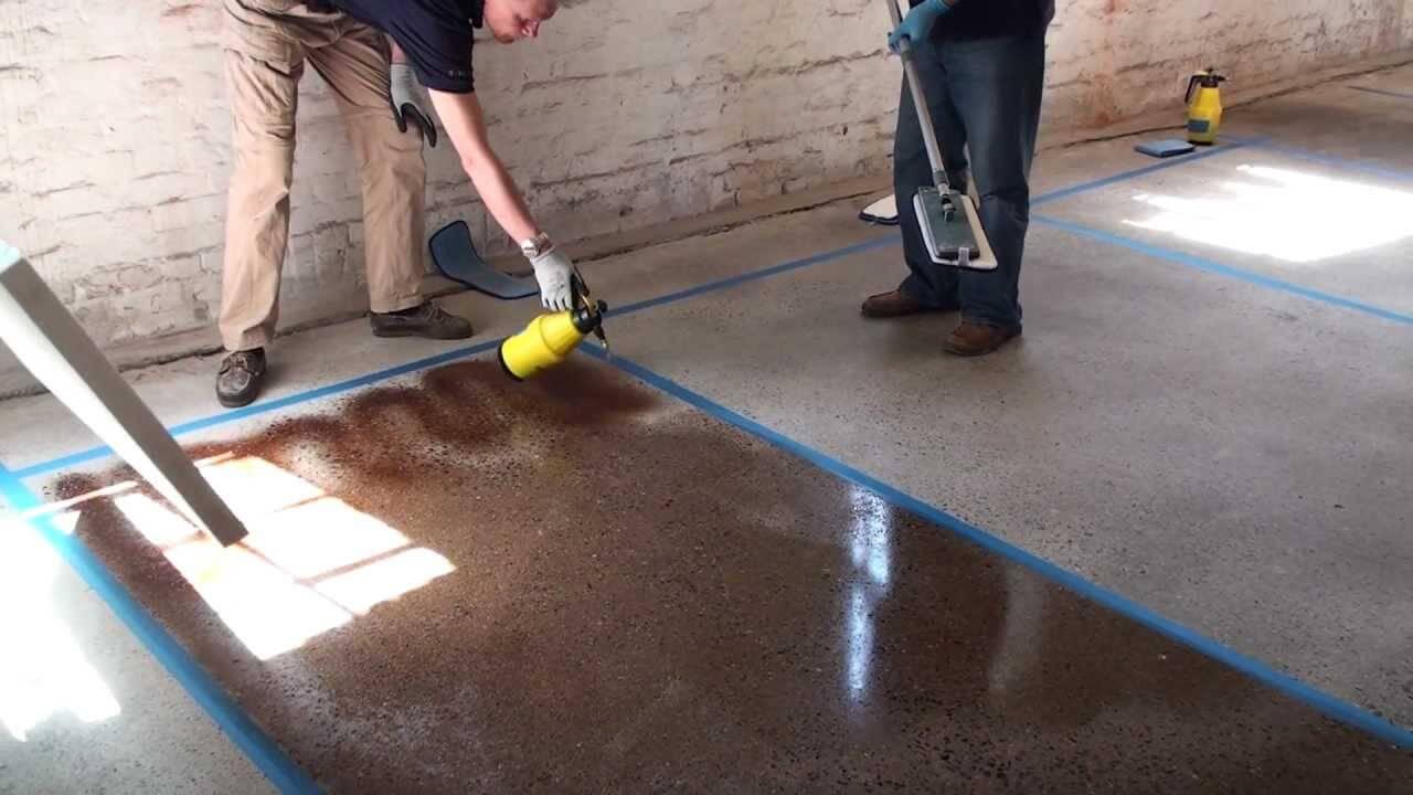 Окраска бетона.