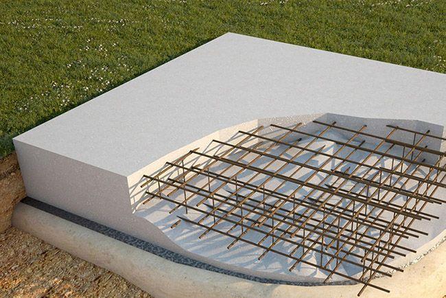 Структура монолитной плиты