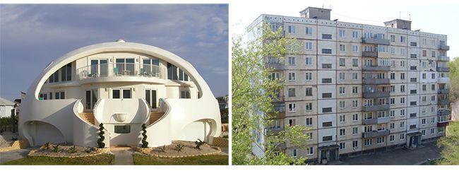Монолитный и панельный дома