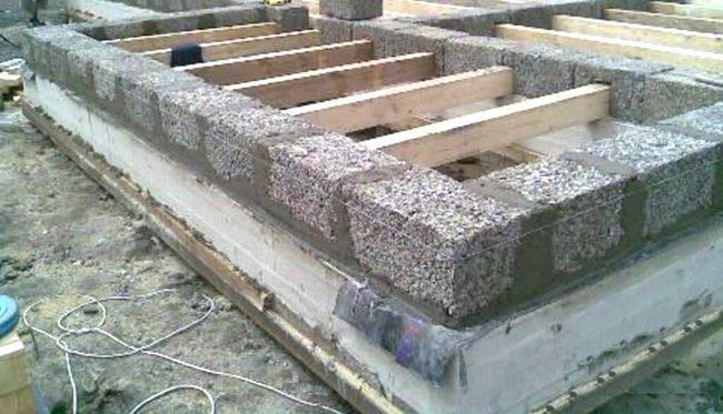 Блоки первого ряда являются основой всей кладки