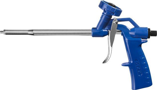 Пистолет удобен для укладки пены в труднодоступных местах