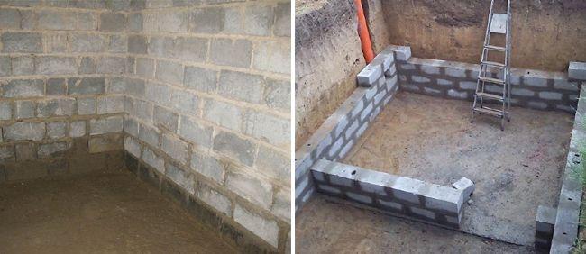 Подвал из пеноблоков строят не очень часто