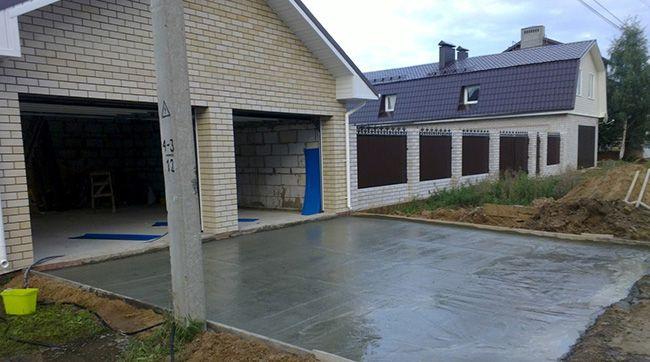 Покрытие из бетона