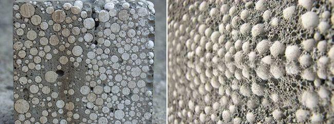 Полистиролбетон представляет собой пористый материал