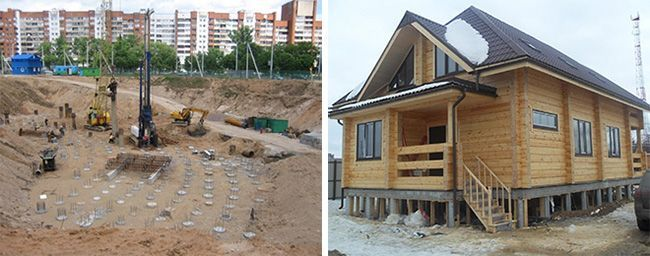 Буронабивные сваи для обустройства фундаментов зданий