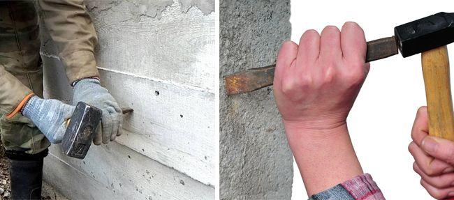 Чем меньше получилось углубление, тем качественнее бетон