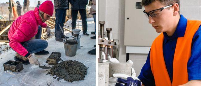 Проверка бетона на соответствие заявленной марки прочности