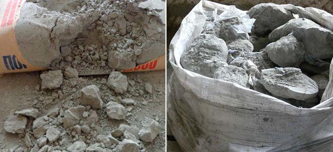 Старый цемент мошенники просто дробят и выдают за свежий