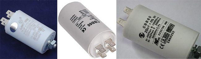 Пусковой конденсатор электродвигателя легко заменить