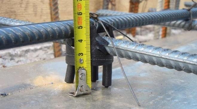 Защитный слой бетона для арматуры - 5 см